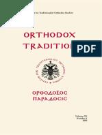 Orthodox Tradition magazine no. 1/2003