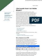 Ayuda de Adobe Reader