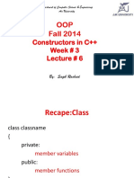 Lec # 6 (Constructors)