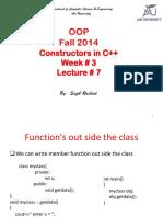 Lec # 7 (Constructors)