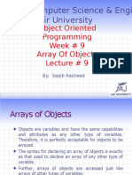 Lecture 9 (Array of Objects)