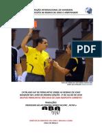 CATÁLAGO IHF DE PERGUNTAS SOBRE AS REGRAS DE HANDEBOL