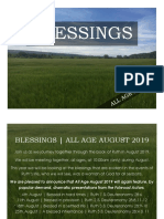 Blessings | All Age August 2019