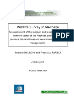 Final Report Machaze Wildlife