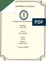 Informe Sobre La Filosofia Contemporanea
