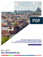 La Déclaration de politique régionale bruxelloise
