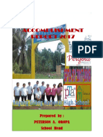Accomplishment Report Bagong Silang 2017-2018