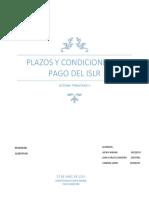 Plazos y Condiciones de Pago Del Islr