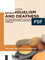 Bilingualism and Deafness - On Language Contact in the Bilingual Acquisition of Sign Language and Written Language