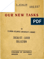Stalin, Our New Tasks