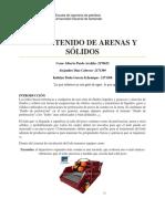 Informe Contenido de Arenas