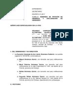 Peticion de Herencia OMAR
