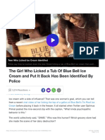 The Girl Who Licked a Tub of Blue Bell Ice Cream and Put It Back Has Been Identi