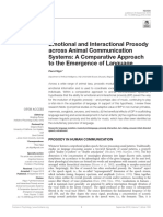 Emotional and Interactional Prosody Across Animal Communication Systems