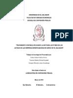 Tratamiento Contable Aplicando la NIIF para las PYMES en los Activos de las Empresas Beneficiadoras de Arroz de El Salvado