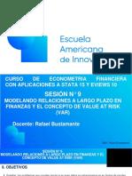 EAI Econometría Financiera. Sesión 9