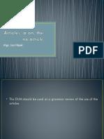 DUM Articles - Presentation