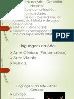 Artes - Linguagens Da Arte