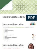 Áreas de Atuação Farmacêutica