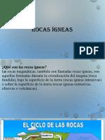 Rocas Ígneas Diapositivasmm