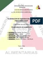 6to Informe de Laboratorio de Tecnologia de Los Alimentos II Terminado y Entregado