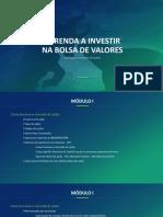 Aprenda Investir na Bolsa de Valores