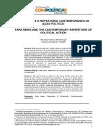 FAKE NEWS E O REPERTÓRIO CONTEMPORÂNEO DE AÇÃO POLÍTICA1