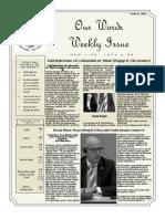 Newsletter Volume 10 Issue 25