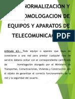 Homologacion Mercados y Sanciones  de telecomunicaciones en Perú