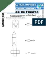 Ficha de Conteo de Figuras Para Primero de Primaria