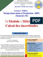 Calcul Des Incertitudes(Cours Etudiant DIP)