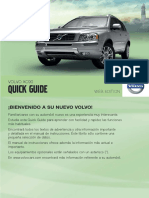 XC90 Quick Guide MY12 ES Tp14358