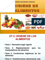 Ut 2. Higiene de Los Alimentos