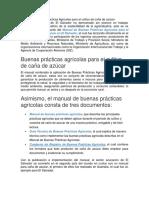 Manual de Buenas Prácticas Agrícolas Para El Cultivo de Caña de Azúcar