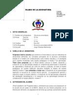 Docencia Basico 2019 Silabo