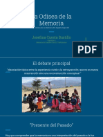 La Odisea de La Memoria Historia de La Memoria en España Siglo XX