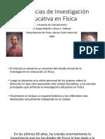Tendencias de Investigación Educativa en Física. Jhon Winter