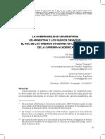La Gobernabilidad Universitaria en Argentina y Los Nuevos Desafíos