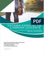 Sistema Especial de Carrera Docente- Libro