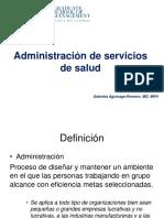 Charla 2. Administración de Servicios de Salud