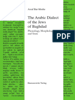(Semitica Viva) Assaf Bar-Moshe - The Arabic Dialect of the Jews of Baghdad _ Phonology, Morphology, And Texts-Harrassowitz Verlag (2019)