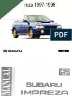 Manual de Servicio Subaru Impreza 1997-98