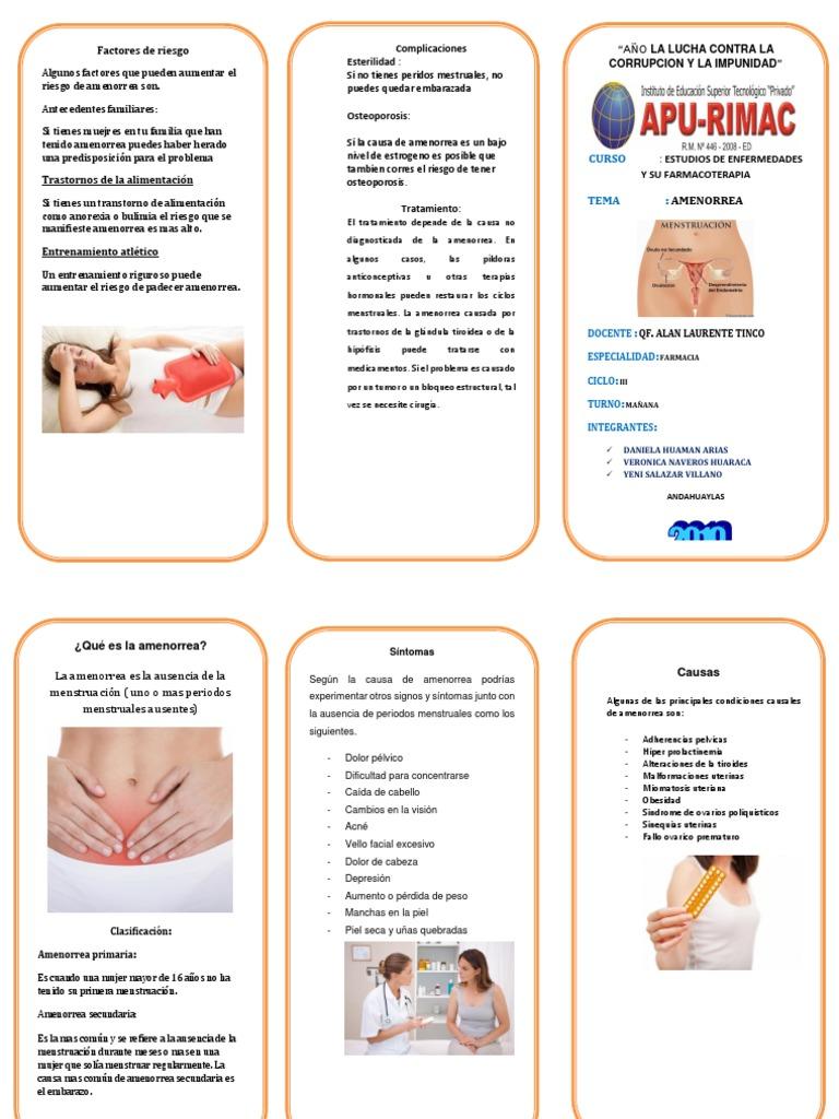 Posibles causas de amenorreal