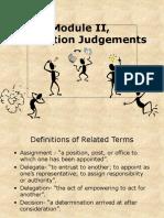 Module II,Delegation Judgements