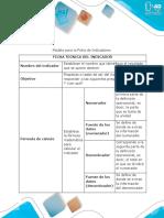 Modelo Para La Ficha de Indicadores - Anexo 3