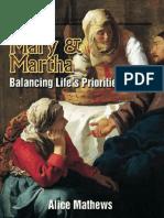 Mary Martha Balancing Lifes Priorities