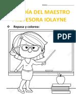 Felíz Día Del Maestro Profesora Iolayne