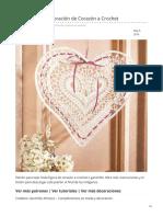 Patrón Decoración de Corazón a Crochet
