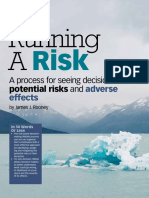 Ruuning a risk