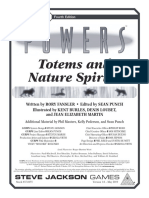 Gurps Powers Totems and Nature Spirits